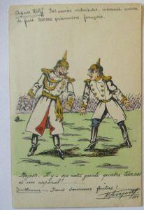 Kaiser Wilhelm II. ratlos, Gegenpropaganda Frankreich 1914
