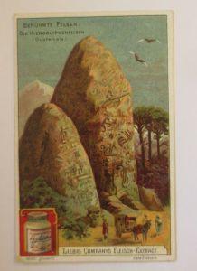 Liebig  Serie 521, Berühmte Felsen, Die Hieroglyphenfelsen  ♥ (26859)