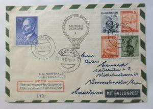 Österreich  Pro Juventute  Ballonpost 10 Jahre  1958 Ganzsache  ♥ (40420)