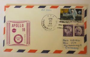 Weltraum  USA-Russland  Apollo 16. Hauptbergungsschiff  27. April 1972 ♥ (19565)