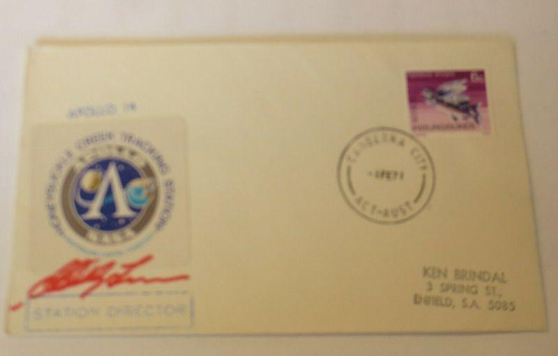 Weltraum USA NASA Apollo 14. mit Unterschrift  Cocos Insel 1977 ♥ (71)