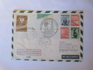 Österreich  Pro Juventute  Ballonpost 10 Jahre  1959 ♥ (19321)