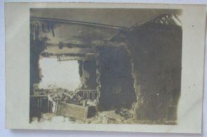 Frankreich Aguilcourt, zerstörtes Haus, Fotokarte mit Ortsangabe (22887)
