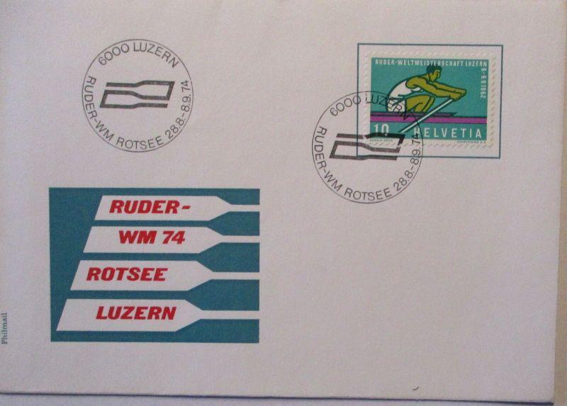 Sport Rudern Ruder WM Rotsee Luzern 1974 (3462)