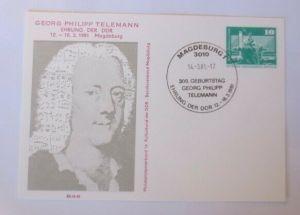 DDR Privatganzsache Georg Philipp Telemann Ehrung SST 1981 ♥ (72594)