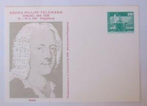 DDR Privatganzsache Georg Philipp Telemann Ehrung 1980 ♥ (72593)
