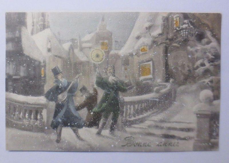 Neujahr, Männer, Musizieren,   1911, Munk Vienne ♥ (62773)