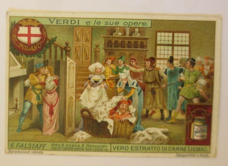 Liebig Serie 6,  Verdi s le Sue Opere, 6. Falstaff, Verdi Oper   ♥ (26639)