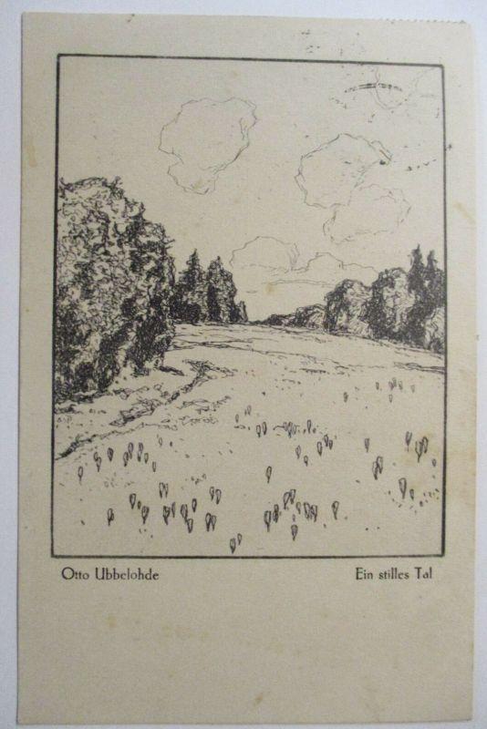 Künstlerkarte Otto Ubbelohde, Ein stilles Tal, 1922 (36717)