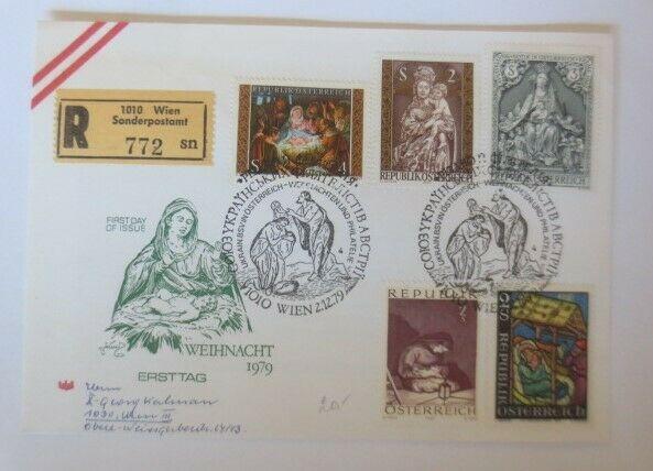 FDC Ersttagsbrief Österreich Weihnachten 1979 ♥ (72627)
