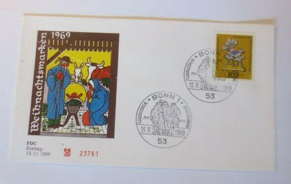 FDC Ersttagsbrief - Sonderstempel Weihnachten Bonn  1969 ♥ (71401)