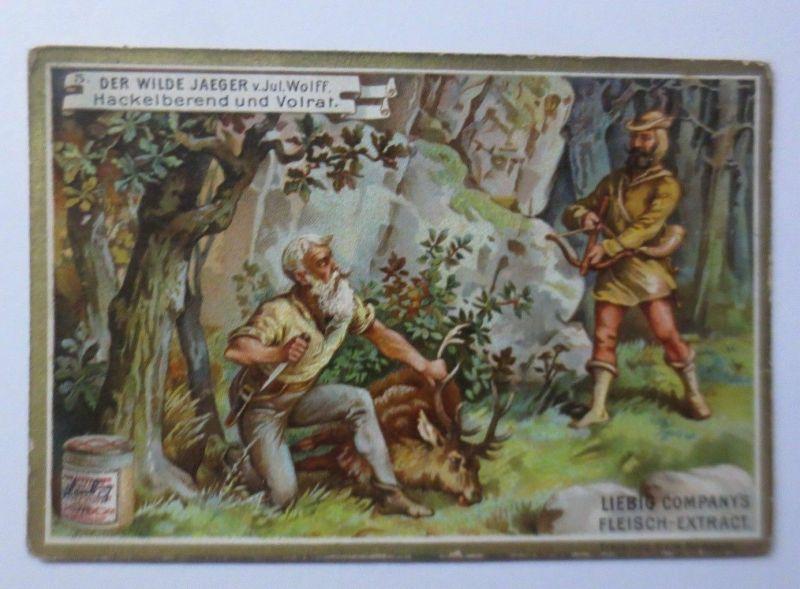 Kaufmannsbilder, Liebig, Der Wilde Jäger, Hackelberend und Volrat ♥ (2329)