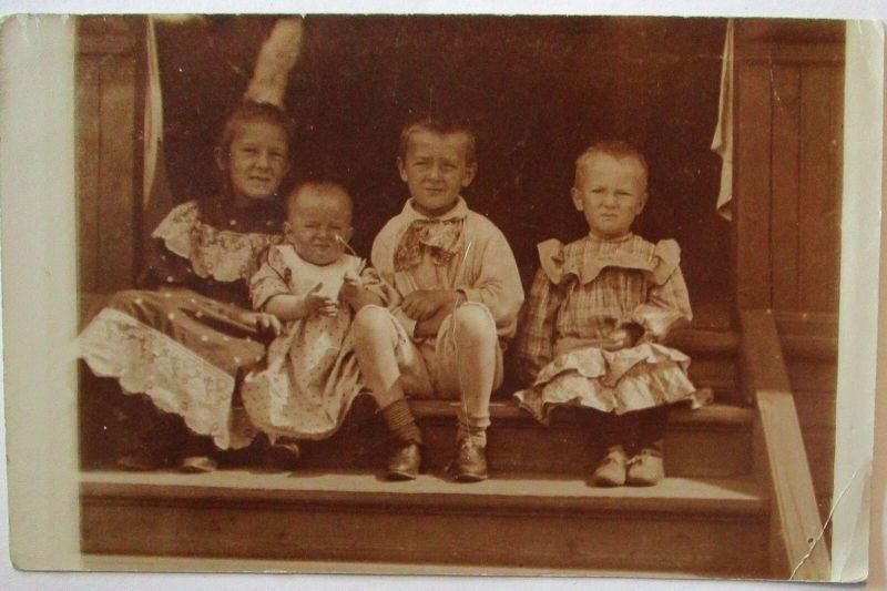 Ukraine, Kinder Fotokarte 1926 aus Kiew (8075)