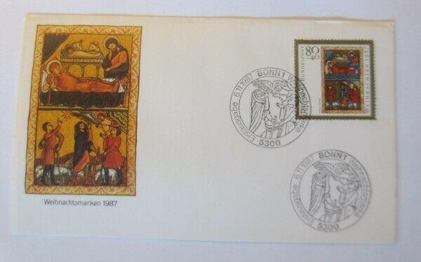 FDC Ersttagsbrief - Sonderstempel Weihnachten Bonn  1987 ♥ (67134)