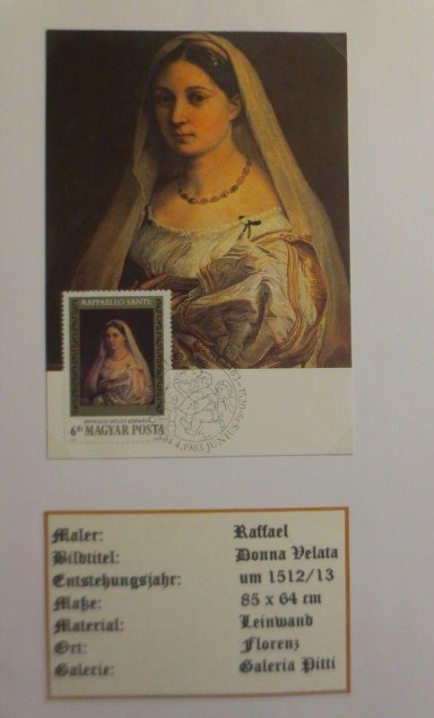 Ungarn, Maximumkarte, Raffael, Donna Velata,  1983 ♥ (4078)