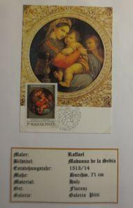 Ungarn, Maximumkarte, Raffael, Madonna de la Sedia, 1983 ♥ (4077)