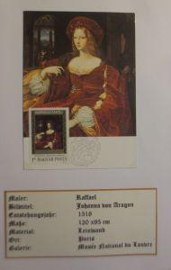 Ungarn, Maximumkarte, Raffael, Johanna von Aragon 1983 ♥ (4058)