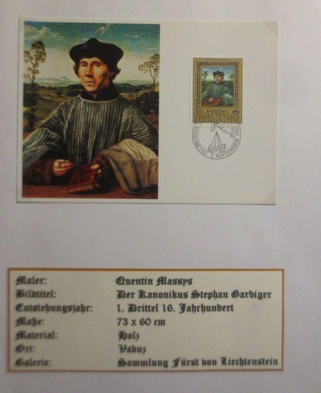 Liechtenstein, Maximumkarte, Quentin Massys, Der Kanonikus  1985 ♥ (4041)