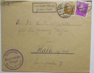 D.Reich Landpoststempel Bechstedt Wagd Erfurt Land 1932 (64563)