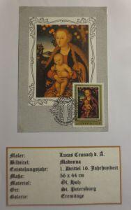 Russland, Maximumkarte, Lucas Cranach, Madonna,  1983 ♥ (4034)