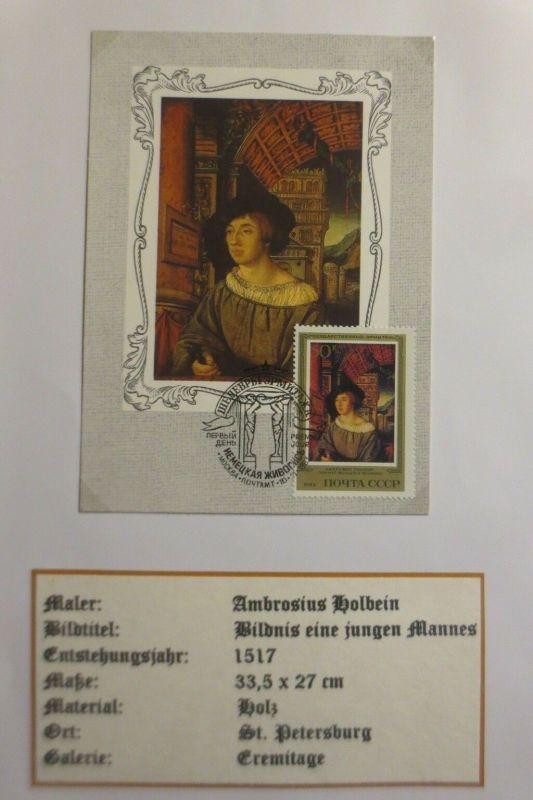 Russland, Maximumkarte, Ambrosius Holbein, Bildnis e. jungen Mannes, 1983♥(4009)