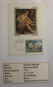 Frankreich, Maximumkarte, Francois Boucher, Dianas im Bade, 1970  ♥ (3976)