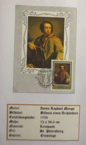 Russland, Maximumkarte, Anton Raphael Mengs, Bildnis e. Architekten,1983♥ (3962)