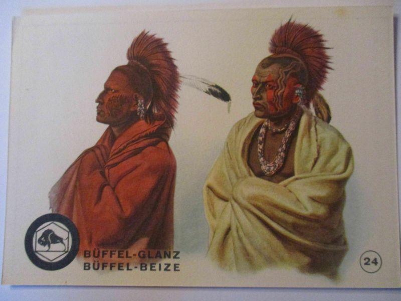 Indianer, Werbung Büffel Glanz Beize, Häuptlinge der Musquacki Indianer (41192)