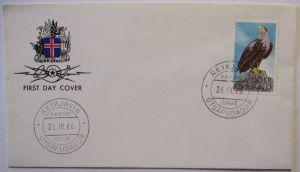 Island, Nr.399 Adler Seeadler FDC 1966 (54242)