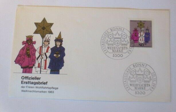 FDC Ersttagsbrief - Sonderstempel Weihnachten Bonn  1983 ♥ (48661)