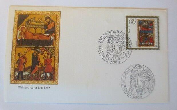 FDC Ersttagsbrief - Sonderstempel Weihnachten  Bonn 1987 ♥ (41310)