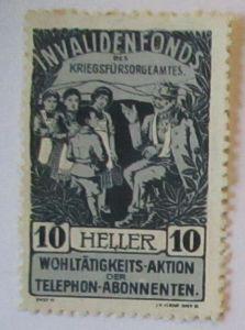 Österreich Invalidenfonds Kriegsfürsorgeamt Spendenmarke (49668)