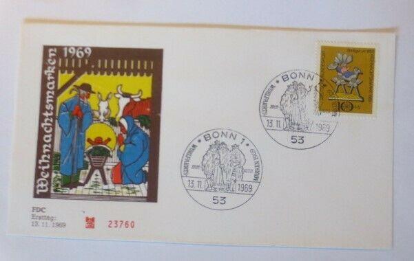 FDC Ersttagsbrief - Sonderstempel Weihnachten Bonn  1969 ♥ (39085)