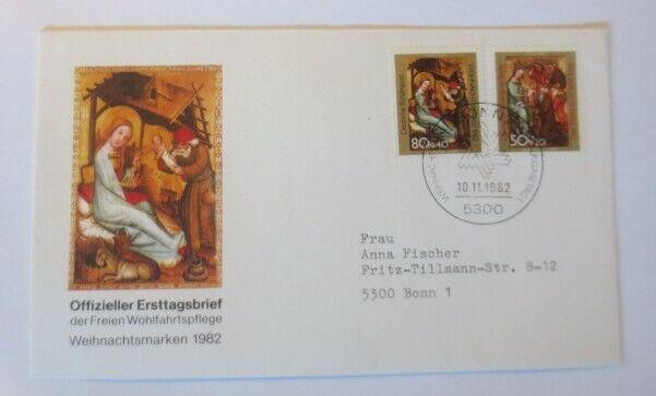 FDC Ersttagsbrief - Sonderstempel Weihnachten Bonn  1982 ♥ (38228)