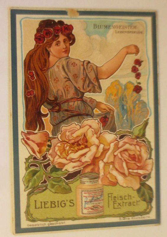 Liebig Serie 524,  Jugendstil Blumengeister II. Lebensfreude  ♥ (24067)