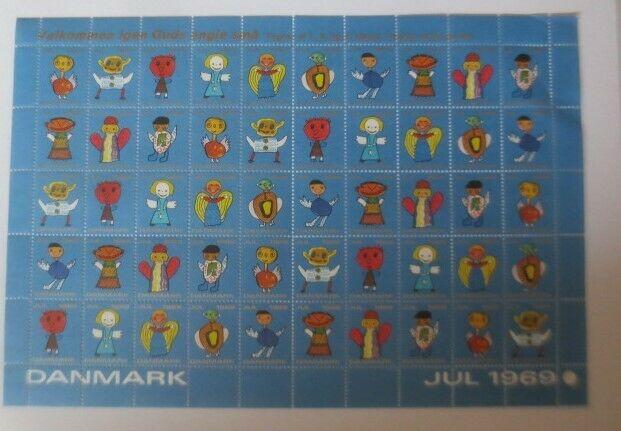 Briefmarken Bogen Weihnachten, Dänemark Jul 1969  ♥ ( F12)