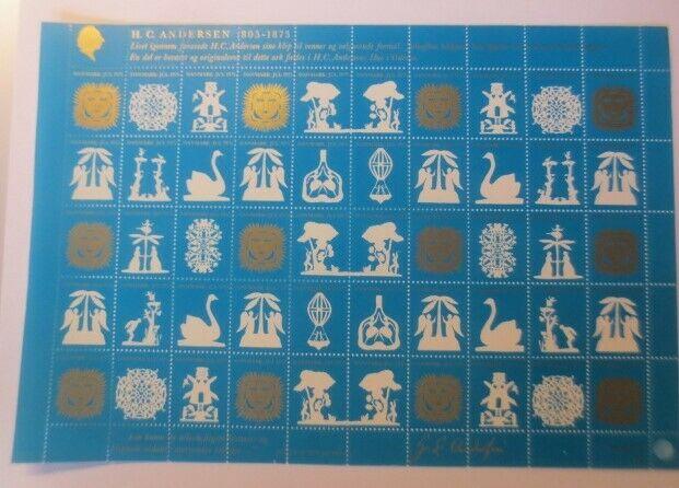 Briefmarken Bogen Weihnachten, Dänemark Jul 1975  ♥ ( F8)