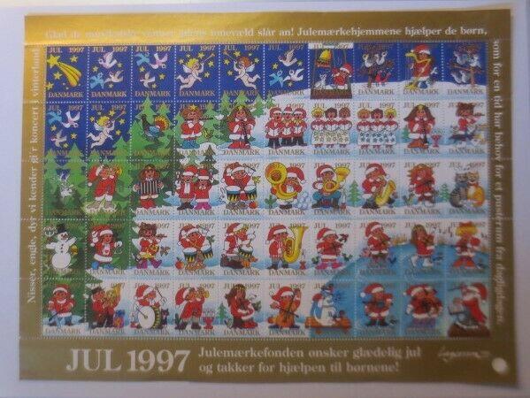 Briefmarken Bogen Weihnachten, Nikolaus, Dänemark Julen 1997  ♥ ( F5)