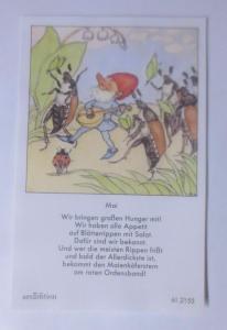 Sammelbild, Zwerge,Maikäfer 10,5 cm x 6,5 cm  1950, Ida Bohatta ♥ (62281)