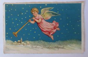 Weihnachten, Engel, Trompete, Sterne,  1936  ♥ (18829)