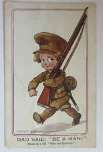 WW1 Kinder, Soldat, Gewehr,  1915, Fred Spurgin  ♥ (11598)