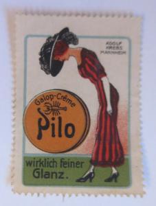 Vignetten Pilo Schuh-Creme Adolf Krebs. Mannheim ♥ (16278