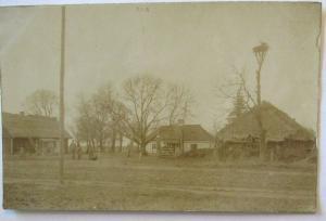 Rußland, Ortschaft, Villa Storchennest, Fotokarte mit Ortsangabe (5330)