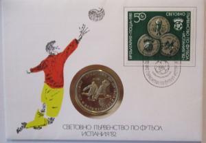 Fußball Numisbrief Bulgarien FIFA 1982 (44663)