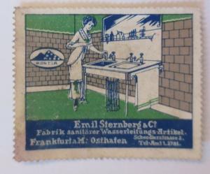 Vignetten Emil Sternberg &Co. Fabrik Sanitär Frankfurt a.M.  ♥ (22756)