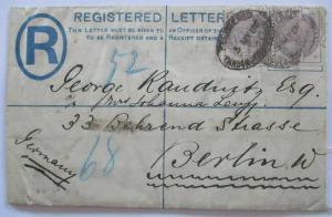 Großbritannien, R-Ganzsache Queen Victoria 1886 mit Zusatz