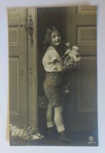 Geburtstag Kinder Mode Blumen  1912  ♥ (16934)