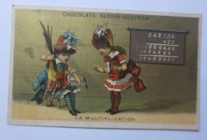 Kaufmannsbilder, Chocolats Guerin-Boutron, Kinder, Puppe, Mathe,1889   ♥
