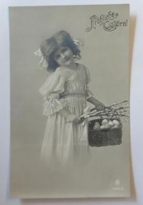Ostern, Kinder, Mode, Korb, Eier, Weidenkätzchen,  1908  ♥ (51661)