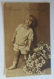 Geburtstag, Kinder, Mode, Blumen, 1930  ♥ (40653)